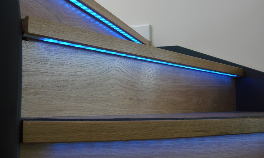 Lighting Basement Washroom Stairs: LED Stair Lighting