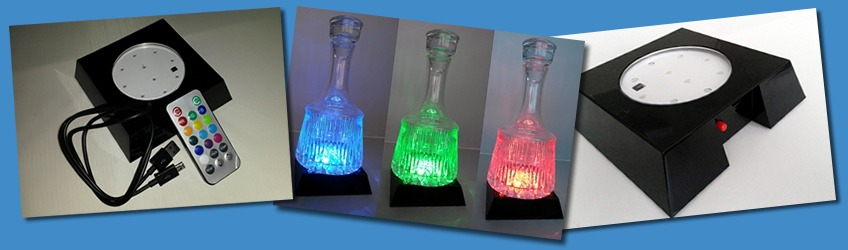 LED Bottle Display Plinth