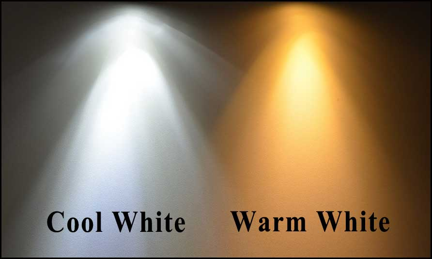 cool white and warm white led lighting